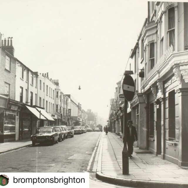 Step back in time with this amazing #Brighton throwback... We're on the right, and you can just about see @komedia_brighton in its former guise as @sainsburys!  Repost: @bromptonsbrighton